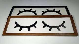 Dekorasi Rumah Frame Hiasan Dinding Walldeco Sleep Eye
