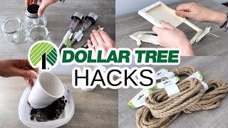 $1 DOLLAR TREE HOME DECOR HACKS That Will Leave You 🤯 (my Favorites That Are Actually Simple!)