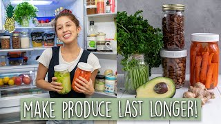 How To Make Produce Last Longer & Reduce Waste 🙌🏻25+ Tips!