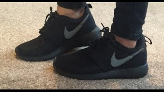 Nike Roshe black grey trainers women / men / juniour QUICK 1 Min Review!
