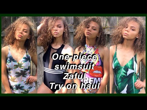 ✨One-piece Try On Swimsuit Haul & Zaful Review | Viah Lee✨