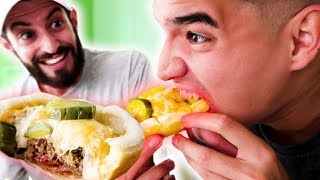 INSANE INSIDE OUT / UPSIDE DOWN CHEESEBURGER!