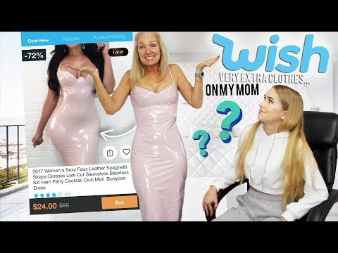 MY MOM TRIES VERY EXTRA WISH CLOTHING ... ya'll wanted this