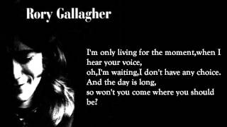 I Fall Apart - Rory Gallagher (lyrics On Screen)