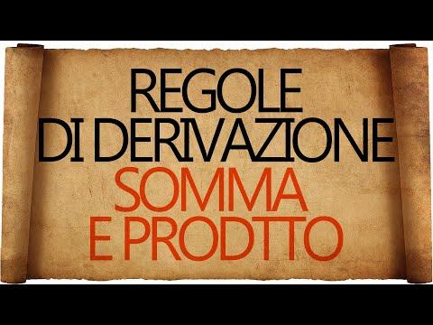Regole di Derivazione : Derivata della Somma e Derivata del Prodotto