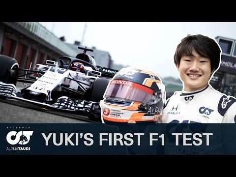 F1ドライバーとなった角田裕樹がAlphaTauriのF1マシンでテスト走行する動画