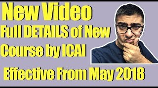 CA New Syllabus | Full details issued by ICAI