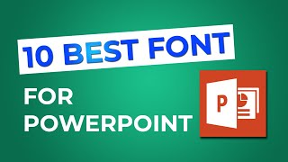 TOP 10 Best Font For Your PowerPoint Presentation👍