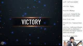 Star Wars: Force Arena - Stream 5860 High Rank Using Bossk 2v2 Glutenslayer