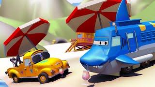 Autogaráž pro děti Z Troye je žralok - Tomova Autolakovna ve Městě Aut