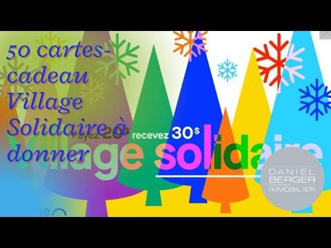 Je donne 50 cartes-cadeaux Village Solidaire d'un valeur de 30$ chacune, voici la procédure à suivre