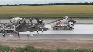 Укладання основного бетону на автодорозі Н-31 Дніпро-Царичанка-Кобеляки-Решетилівка