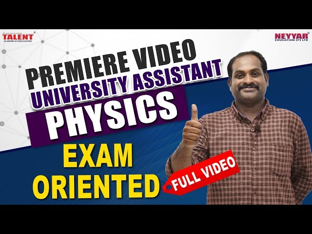 Physics Exam Oriented Premier |Talent Academy