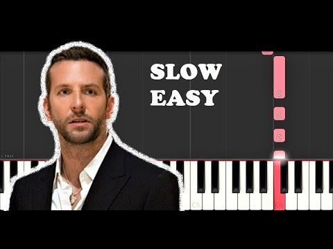 Lady Gaga & Bradley Cooper - Shallow (A Star is Born) (SLOW EASY PIANO TUTORIAL)