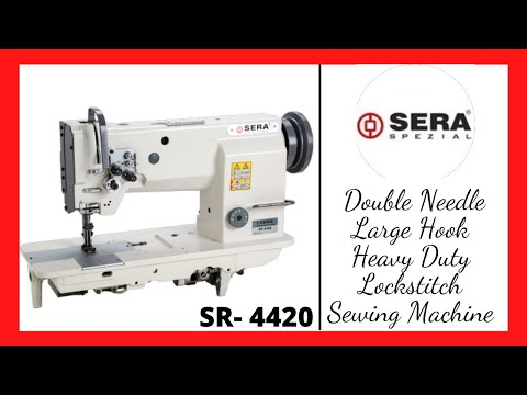 Double Needle Lockstitch Fixed Bar Sewing Machine for Canvas Carry bags