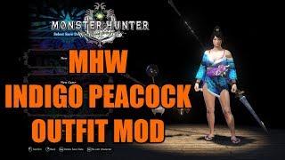 MHW Indigo Peacock Outfit MOD