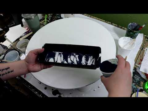 (181) Large Dirty Pour with Negative Space, Acrylic Pouring Video