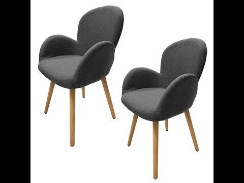 Schöne Esszimmerstühle | 2 Stück für unter 100€ | Bequem & Optisch edel | Bis 100kg belastbar