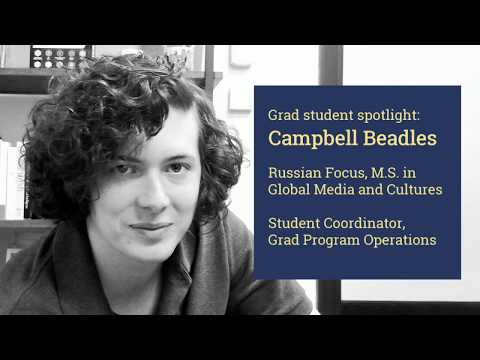 Student Spotlight: Campbell Beadles, M.S. in Global Media and Cultures