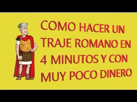 Hacer un traje Romano - How to make a Toga in 4 minutes
