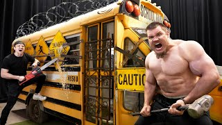 First To Break Into Armored School Bus Wins $10,000