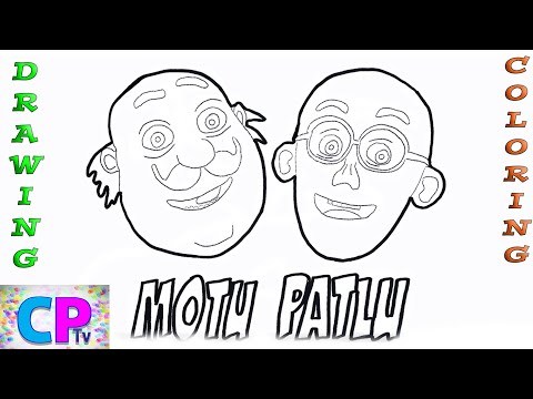 Motu Patlu Drawing Coloring Pages Book For Kids Step By Step