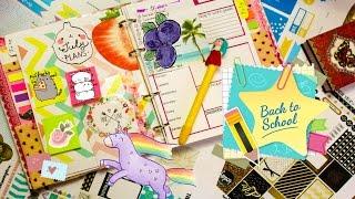 Снова в школу Как я веду ежедневник �деи для личного дневника DIY на русском PLAN WITH ME