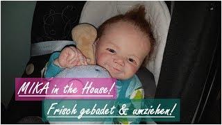 HELLO MIKA!!!    Baden & Umziehen!    Mika ist da!!!    Reborn Baby Deutsch    Little Reborn Nursery