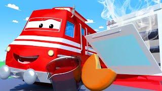 Vláčky pro děti - Pizza vlak - Vláček Troy ve Městě Aut