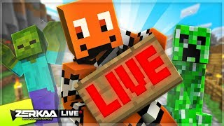 Literally Mining In A Straight Line For 60 Minutes+ (Minecraft #28 LIVE 🔴