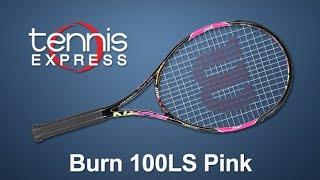 Ρακέτα τέννις Wilson Burn 100LS Pink video