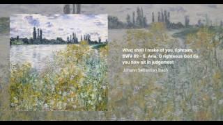 What shall I make of you, Ephraim, BWV 89
