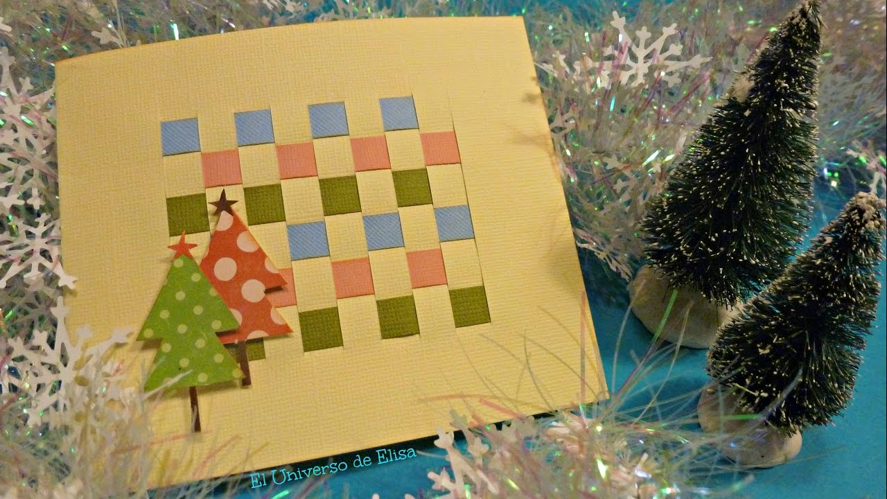 Diy, Manualidades para Navidad, Tarjeta de Felicitación Navideña muy Fácil y rápido