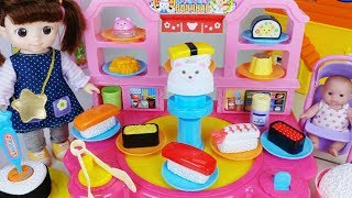 Baby doll sea food cooking play and food shop toys - ToyMong TV 토이몽