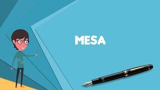 What is Mesa? Explain Mesa, Define Mesa, Meaning of Mesa