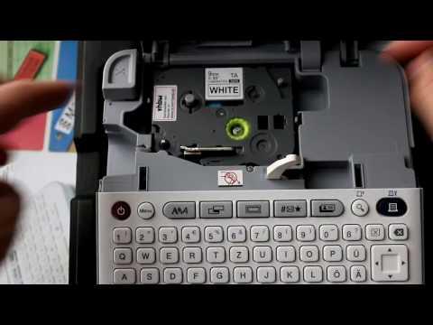 VHBW Kassette Patronen Schriftband 9mm transparent und Weiß für Brother