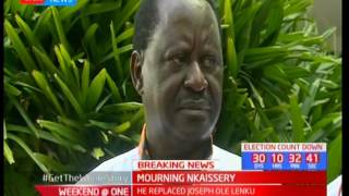 Opposition leader Raila Odinga sends his message of condolences to CS Nkaissery's family