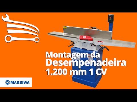 Desempenadeira 1.200mm 1CV Monofásico 110/220V - Video
