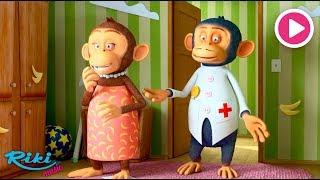 Пять маленьких обезьянок - Five Little Monkeys - LooLoo Kids  Nursery Rhymes на русском!