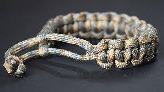 Original cobra paracord bracelet without clasp or buckle