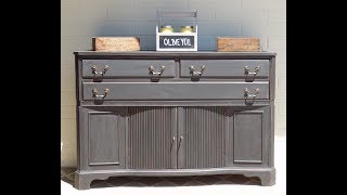Redoing A Flat Black Buffet : How To Redo: Furniture Makeover.