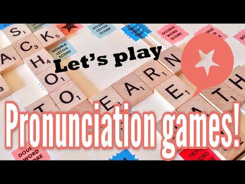 American English pronunciation: Check your pronunciation with me and these 2 pronunciation games
