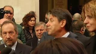 Il Presidente Conte a Foggia, punto stampa