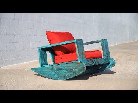 DIY Outdoor Furniture   Outdoor Rocker w/ Shou Sugi Ban   Beginner DIY Project