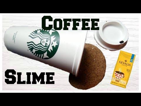 DIY Coffee Slime | How To Make Slime Using REAL Coffee Grounds
