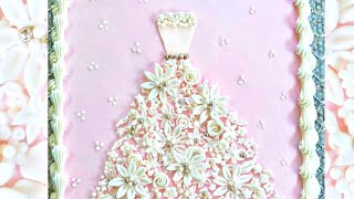 How To Make A Floral Wedding Dress Cake For Bridal Showers!