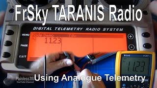 FrSky TARANIS Quick Tip – Using Analogue Telemetry (AD1, AD2, A1, A2) with a FBVS01
