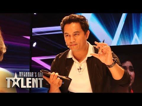 GOLDEN BUZZER MAGICIAN! Damein Reads The Judges Minds On Myanmar's Got Talent 2018!