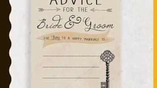 Bridal Shower advice card