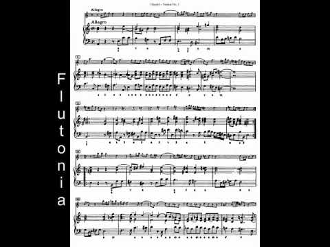 Tempo 108 bpm, Harpsichord Accompaniment for ''Halle'' Flute